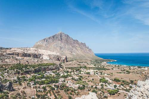 italy panoramic photography of butte sicily
