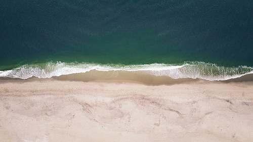 coast aerial photography of coast beach