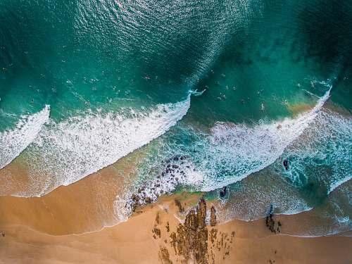 wave photograph of beach and sand australia