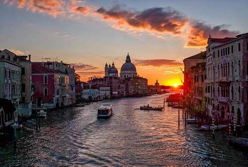 sunrise landscape photo of Venice during sunset sky