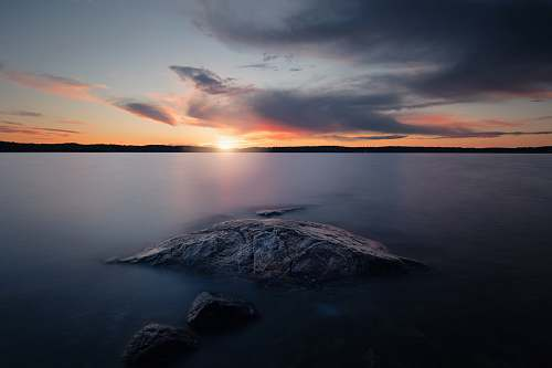 landscape sunset photo water