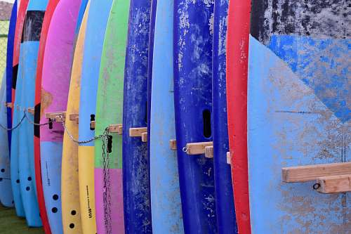 photo surfboard assorted-color surfboard set nature free for commercial use images