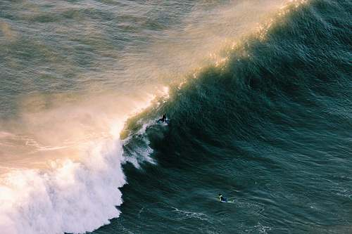 photo ocean aerial view of wave of water sea free for commercial use images