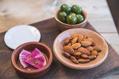flora almonds on saucer bean