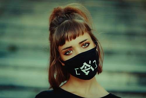 clothing woman wearing face mask bandana