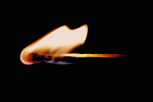 flame lit matchstick matchstick