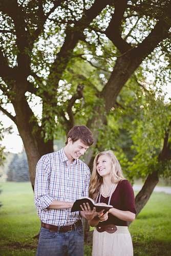 person couple under tree tree