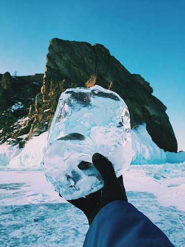 photo nature person holding ice outdoors free for commercial use images