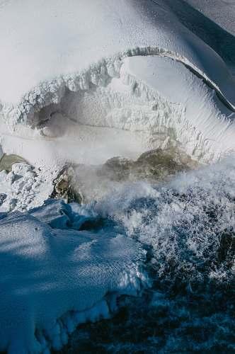 nature white snow mountain