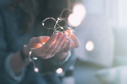 photo hands shallow focus photograph of person holding string lights christmas free for commercial use images
