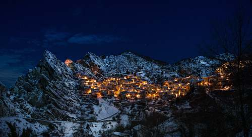 castelmezzano mountain during night italy