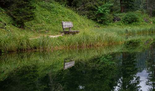 bench bench near body of water during daytime furniture