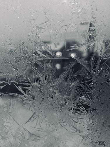 ice frosted glass outdoors