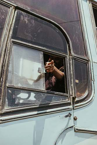 human man riding bus person