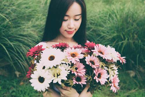 woman woman holding flowers flower