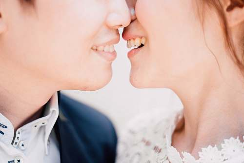 photo human wedding couple kiss free for commercial use images