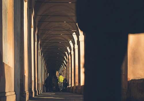people closeup photo of hallway bologna