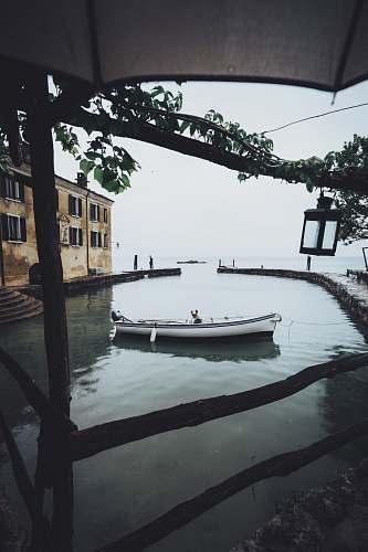 boat canoe near dock garda