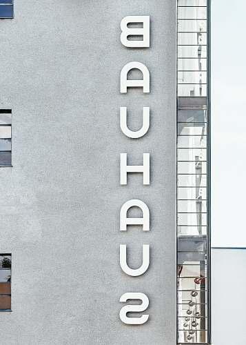 germany Bauhaus concrete apartment building grey