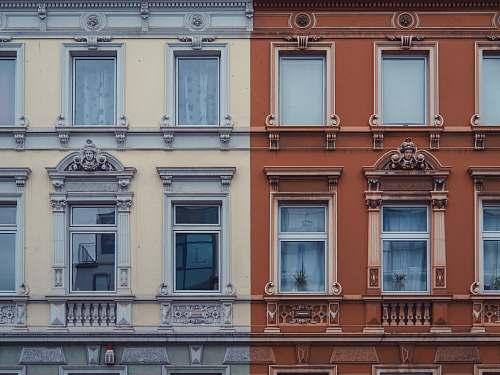 facade brown and white concrete building düren