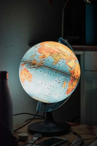 astronomy LED blue and brown desk globe outer space