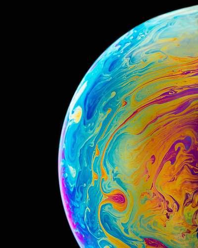 astronomy multicolored planet closeup photography globe