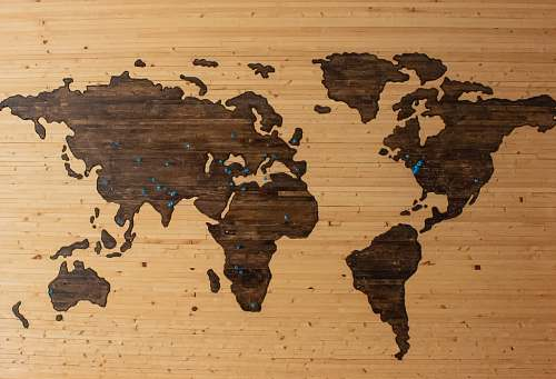 pin brown wooden map board map