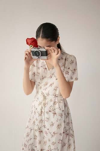 photo clothing woman holding camera apparel free for commercial use images