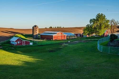 palouse barn on green field playground