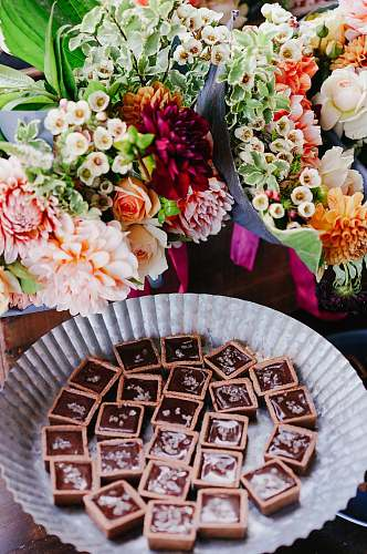 photo flowers assorted flower bouquets and chocolates dessert free for commercial use images