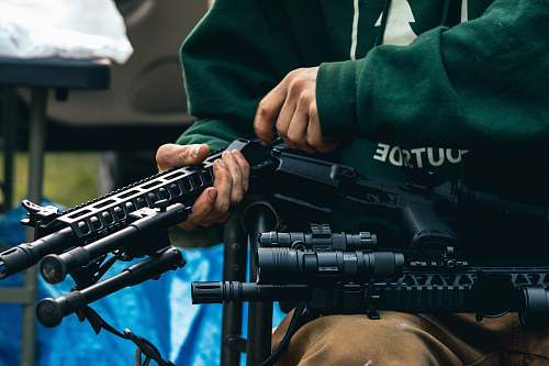 photo weapon person holding rifle weaponry free for commercial use images
