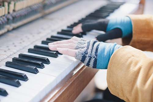 gloves person playing piano music