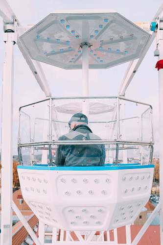 person man riding ferries wheel hot tub