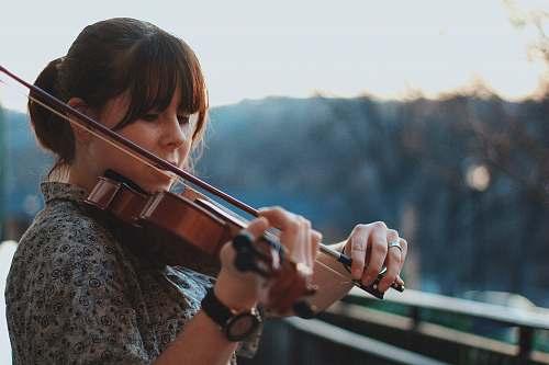 violin woman playing violin people