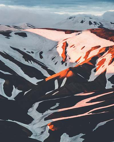 mountain snow capped mountain during golden hour iceland