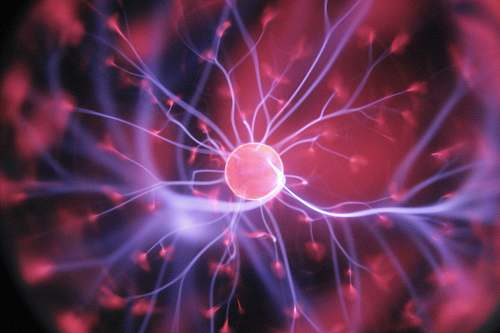 photo light purple and pink plasma ball science free for commercial use images