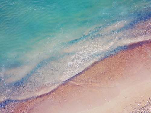 sea aerial view of seashore nature