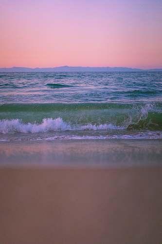 sea beach wave on white sand ocean