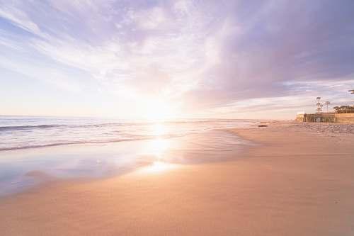 sea long exposure photography of sea shore pastel