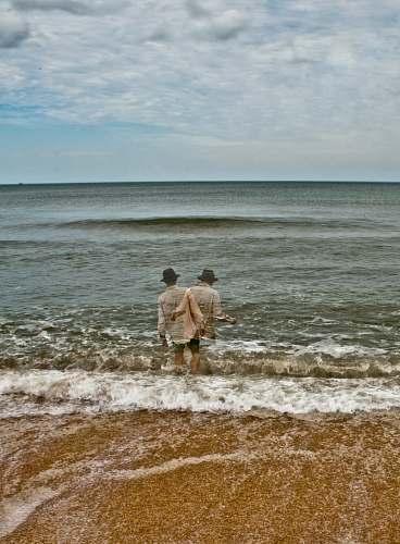 ocean man in ocean person