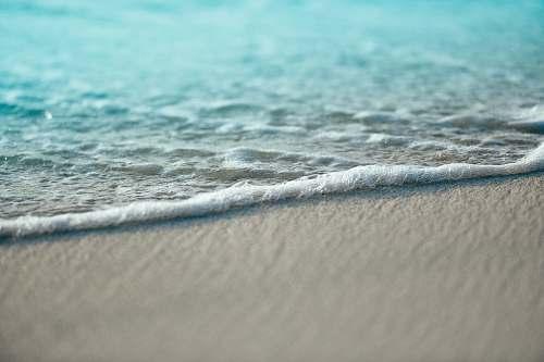 water white sand ocean