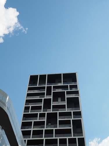 city gray high rise building urban