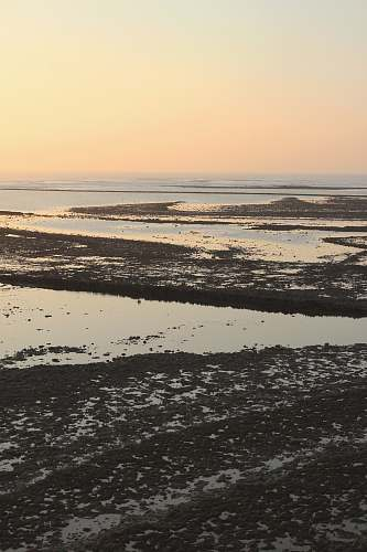 outdoors view of low tide body of water during golden hour france