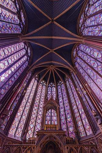 art blue and brown building interior saint chapelle