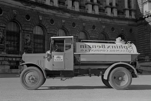 transportation grayscale photo of vintage car truck