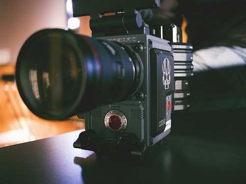 electronics black DSLR camera in macro photograohy video