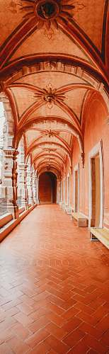 photo indoors empty brown hallway building free for commercial use images