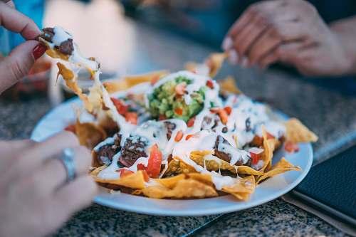 human taco on plate food