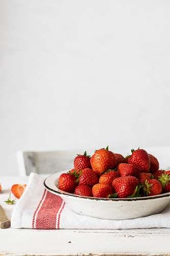 fruit bowl of strawberries strawberry