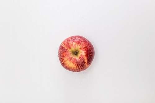 fruit red apple fruit on white table Apple